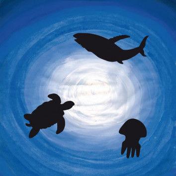 Tiefeneffekte darstellen mit Ozeantieren