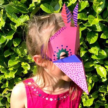 Tiermasken im Origami-Stil falten und basteln