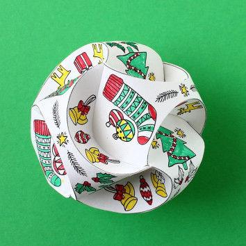 Raffinierte Weihnachtskugeln aus Papier