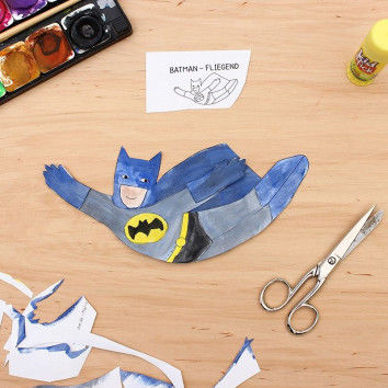 Mal-Collage Batman