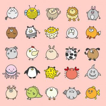 Süße Tiere zeichnen lernen im japanischen Kawaii-Stil