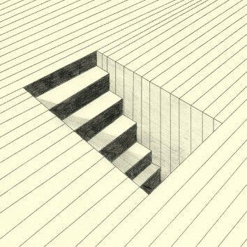 Schattierte Treppe aus dem PDF: Hyperrealistische Raumillusionen - Arbeiten mit Schattierung PDF