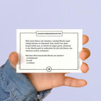 TASK-Karten: Denk mal! Charaktereigenschaften