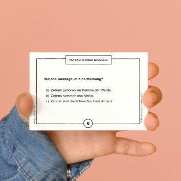 TASK-Karten: Denk mal! Tatsache oder Meinung