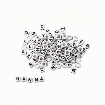 Buchstaben-Perlen, 100 Stück