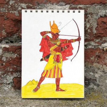 Historische Kämpfer zum Ausmalen