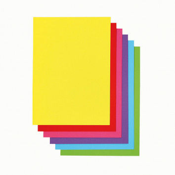 Drucker-Papier in 6 intensiven Farben