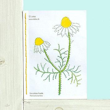 Karten mit Wildblumen Motiven zum Pricken