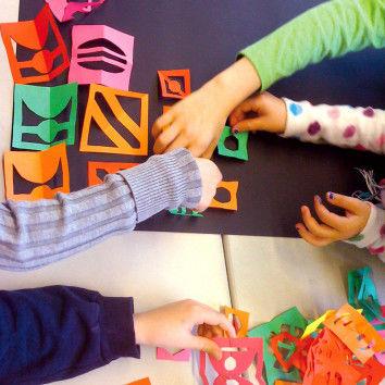 Kirigami-Blätter