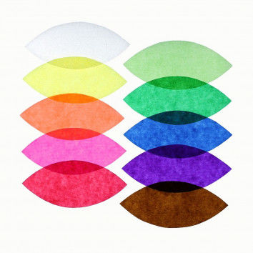 Transparentpapier in bunten Farben sortiert