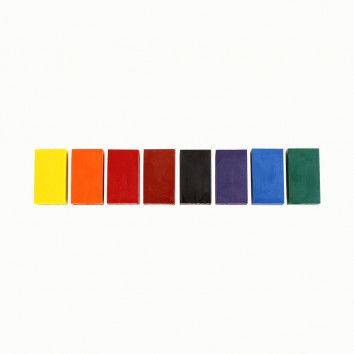 Stockmar-Wachsmalblöcke, 8er Metalletui, farbsortiert