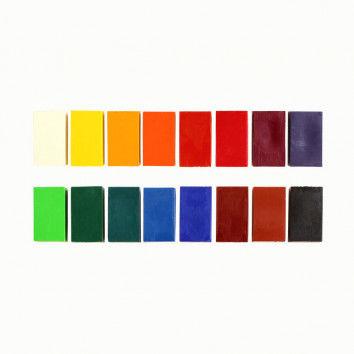 Stockmar-Wachsmalblöcke, 16er Metalletui, farbsortiert