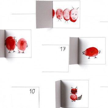 Adventskalender für Kinder - Fingerprint-Kalender