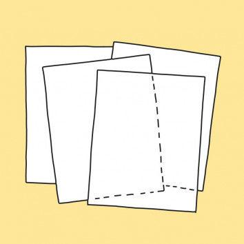 Pergamentzuschnitte für Karton-Laterne