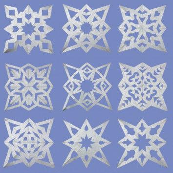 Silbersterne als Weihnachtsbaumschmuck
