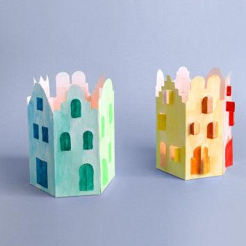 Leuchtende Stadt - Basteln mit Kindern