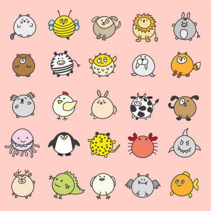 Kawaii Süße Tierfiguren Pdf Labbé