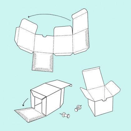 Bastelanleitung Schachtel Vorlage Ausdrucken 3