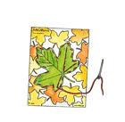 Stickkarten Herbstblätter