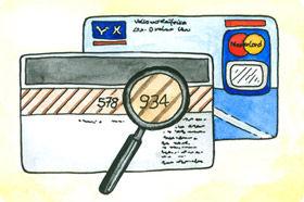 Bei der Prüfziffer handelt es sich um die letzten 3 Zahlen auf der Rückseite der Kreditkarte neben dem Unterschriften-Feld.