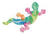Blätterdruck-Gecko
