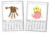 Malkalender mit Handprints