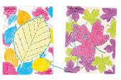Poppige Herbst-Stickkarten