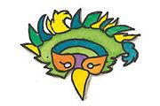 Masken im Comic-Stil