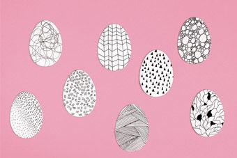 Blanko-Eier