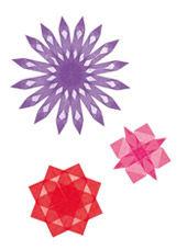 Fenstersterne rot-rosa