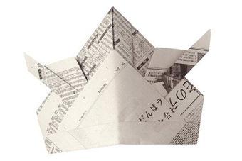 Hüte aus Zeitungspapier