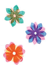 Kirigami-Blumen