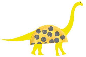 Dinosaurier aus Papptellern PDF
